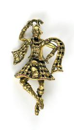 Coro Scottish Dancer Pin