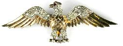Trifari sterling silver and rhinestone eagle pin